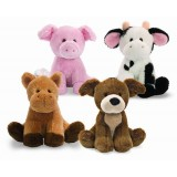 "Wholesale - Sound Stimulating Plush Toy Sound Toy Pig/Puppy 10cm/3.9"" Tall"
