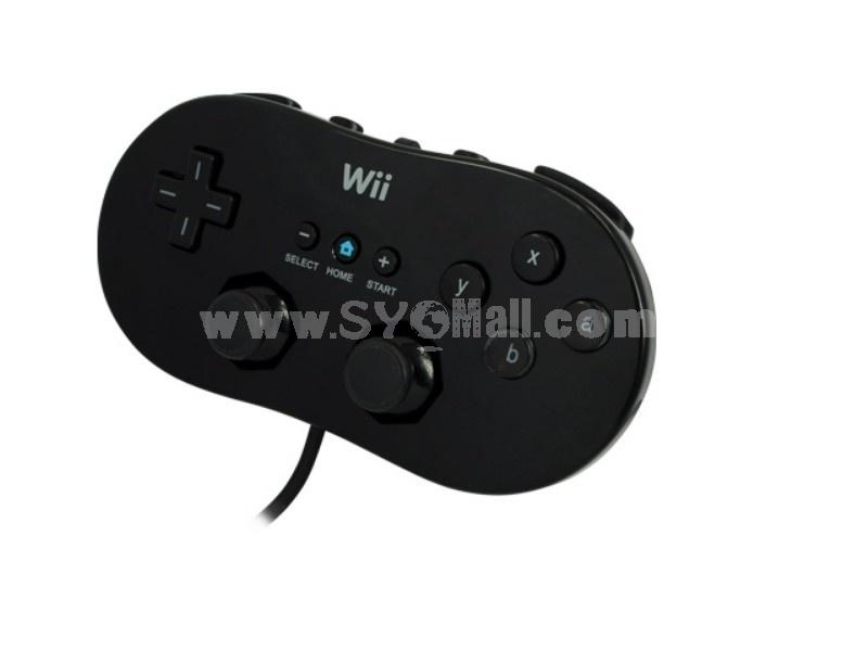 Classic Controller for Nintendo Wii Virtual Games Black