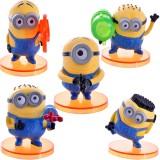 """Wholesale - DESPICABLE ME 2 The Minions Action Figure/Garage Kits PVC 7.5cm/3.0"""" 5pcs/Kit"""