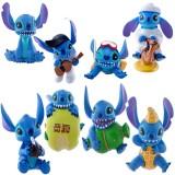 "Wholesale - Stitch Lilo & Stitch Action Figure/Garage Kits PVC 6cm/2.4"" 8pcs/Kit Generation 3"