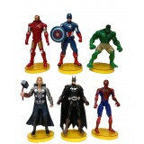 """Wholesale - The Avengers Action Figure/Garage Kits Vinyl Toy with Stand 6pcs/Set 6"""""""