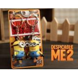 """Wholesale - DESPICABLE ME 2 The Minions 3D Eyes PVC Key Chain 2pcs/Pair 2.0"""""""