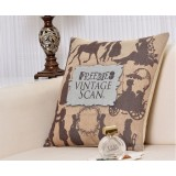 Wholesale - Decorative Printed Morden Stylish Throw Pillow Cover Cushion Cover No Pillow Inner -- Vintage Scans