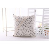 Wholesale - Decorative Printed Morden Stylish Throw Pillow Cover Cushion Cover No Pillow Inner -- Little Fresh Flowers