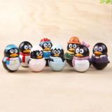 """Wholesale - QQ Penguin Vinyl Garage Kit Toys 8pcs/Kit 1.5"""""""