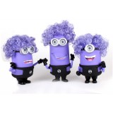 Wholesale - The Minions DESPICABLE ME 2 Purple Color 3D Eyes with Music and Light Effect Action Figures/Garage Kit Model Toy 3pc