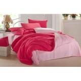 Wholesale - LLANCL Pure Color 4 Pieces Duvet Cover Set Bedding Set -- Red/Pink