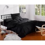 Wholesale - LLANCL Pure Color 4 Pieces Duvet Cover Set Bedding Set -- Black