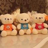 """Wholesale - Teddy Bear with Vest Plush Toy 18cm/7"""" 3PCs"""