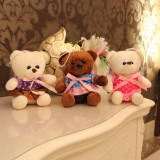 "wholesale - Cute & Novel Teddy Bear with Dress Plush Toy 18cm/7"" 3PCs"