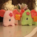 "Wholesale - Elephant with Flower Plush Toy 18cm/7"" 2PCs"