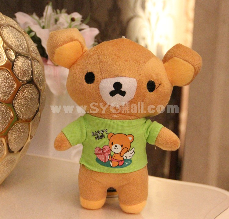 "Rilakkuma with Cute T-shirt Plush Toy 18cm/7"" 2PCs"