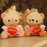 "Wholesale - Angel Bear with Loving-heart Plush Toy 18cm/7"" 2PCs"