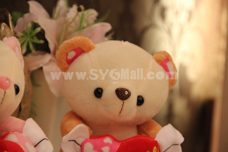 Angel Bear with Loving-heart 12s Voice Recording Doll Sound Recordable Plush Toy 18cm/7""