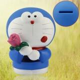 """wholesale - Rose Doraemon Piggy Bank Money Box PVC Toy Figure Large Size 21cm/8"""""""