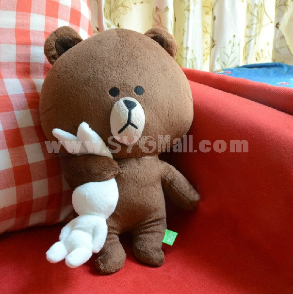 New Arrival App Software Doll Stuffed Toy Brown Bear Catch Cony Rabbit Plush Toy 35cm/12inch