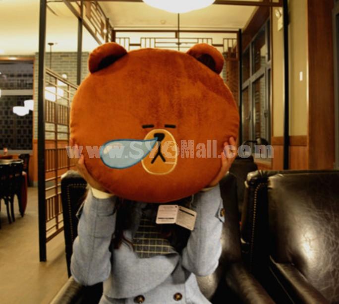 New Arrival App Software Doll Stuffed Toy Brown Bear Sleeping Plush Toy Cushion 40cm/16inch