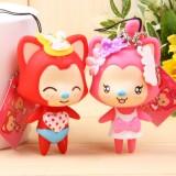 Wholesale - Strawberry  Ali Fox Vinyl Figure Toy Cellphone Pendant Bag Pendant 2 Pcs/Lot