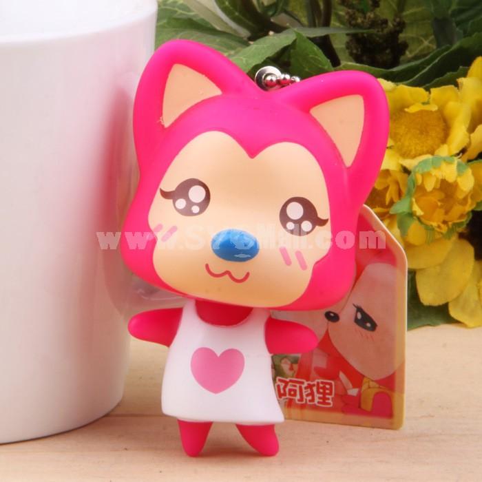 Ali Fox Vinyl Figure Toy Cellphone Pendant Bag Pendant 2 Pcs/Lot