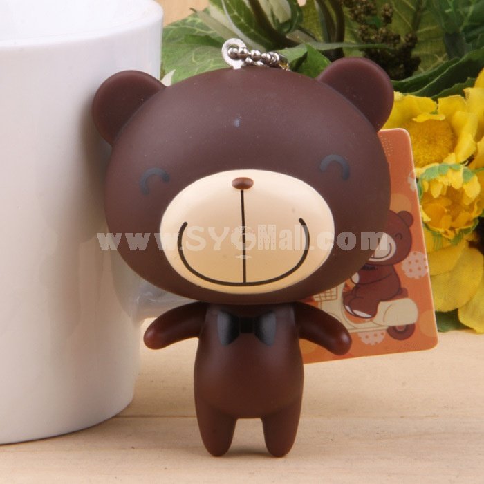 Tie Bear Vinyl Figure Toy Couple Cellphone Pendant Bag Pendant 2 Pcs/Lot