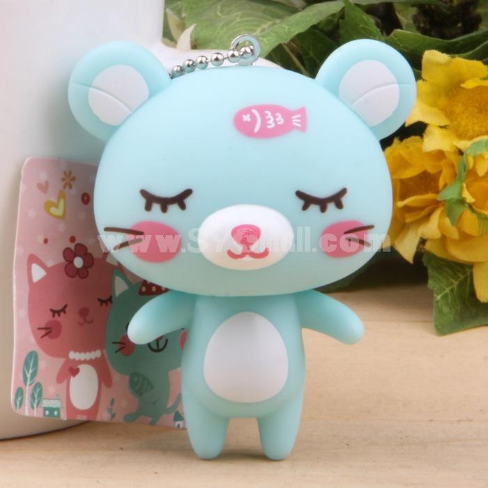 Cute Shy Sleeping Cat Vinyl Figure Toy Cellphone Pendant Bag Pendant 2 Pcs/Lot