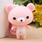 Wholesale - Cute Loving-heart Bear Vinyl Figure Toy Cellphone Pendant Bag Pendant