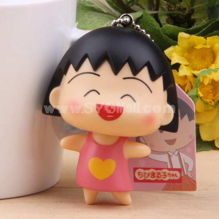 Chibi Maruko Vinyl Figure Toy Cellphone Pendant Bag Pendant