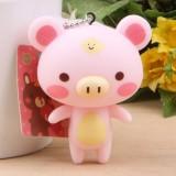 Wholesale - Pink Piggy Vinyl Figure Toy Cellphone Pendant Bag Pendant