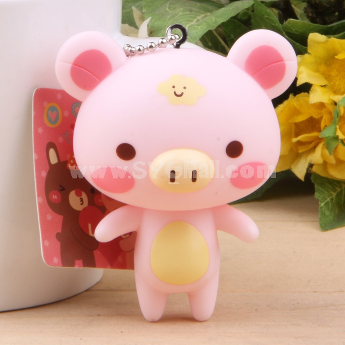 Pink Piggy Vinyl Figure Toy Cellphone Pendant Bag Pendant