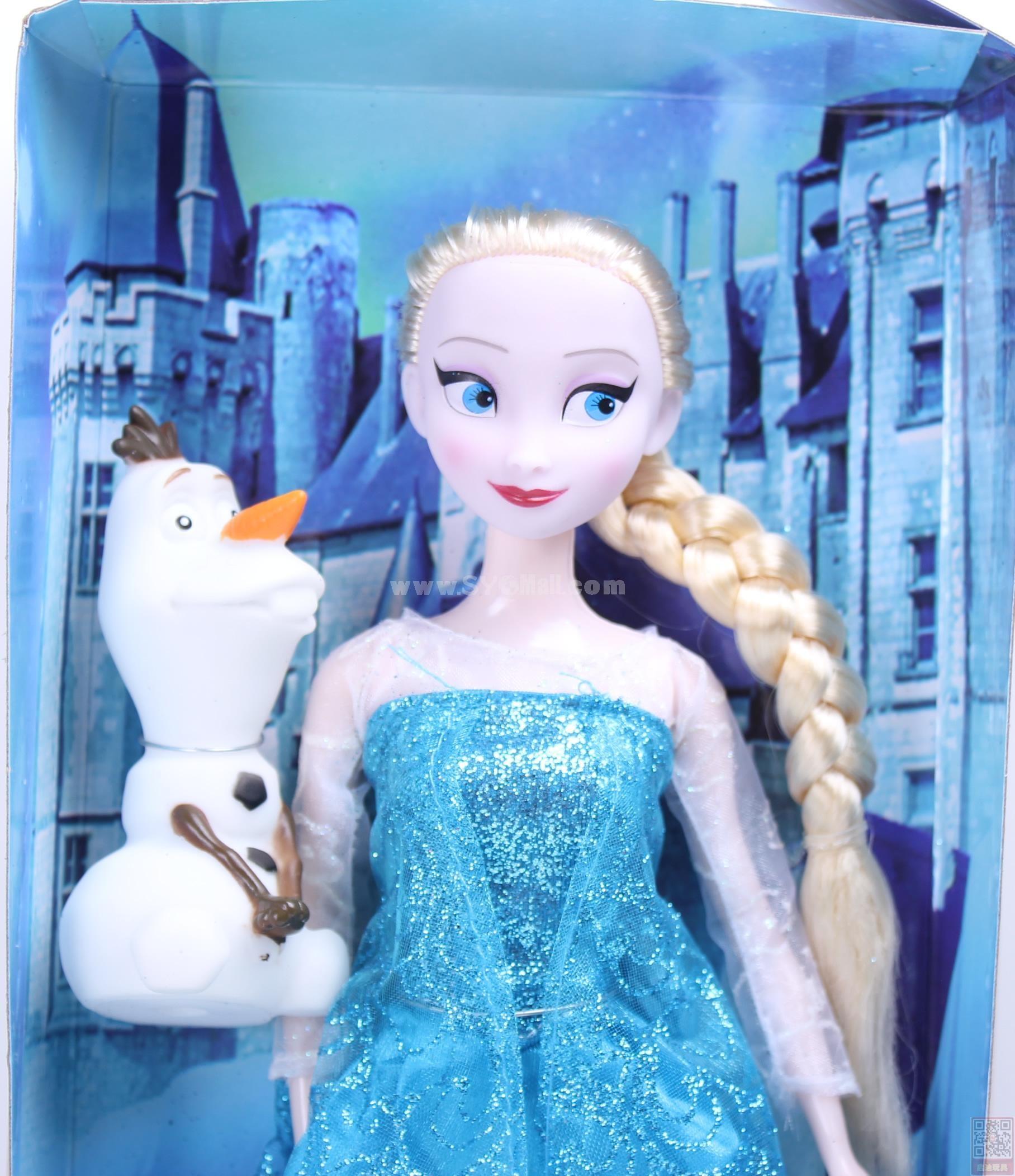 Frozen Princess Figure Toys Figure Doll 33cm/13.0inch -- Elsa with Olaf