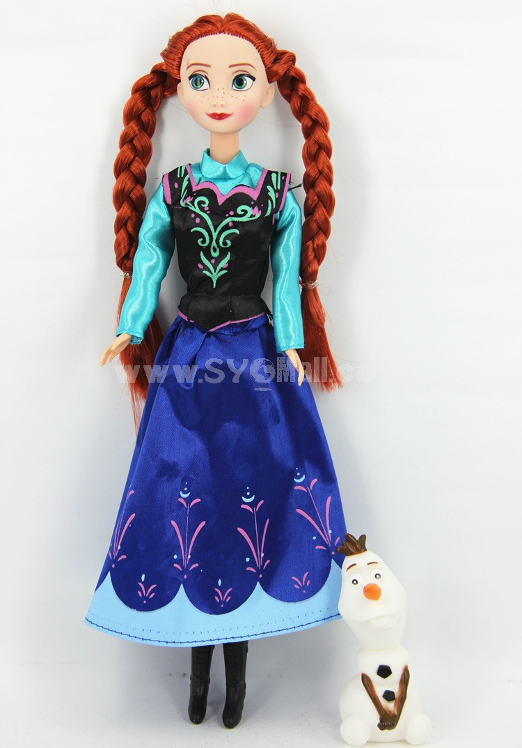 Frozen Princess Figure Toys Figure Doll 33cm/13.0inch -- Anna with Olaf