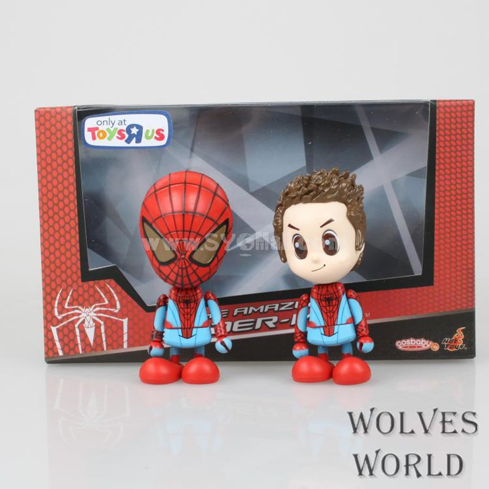 Cute Spider-man Figure Toy Parker & Spider-man 3.5inch 2pcs/Lot 3302