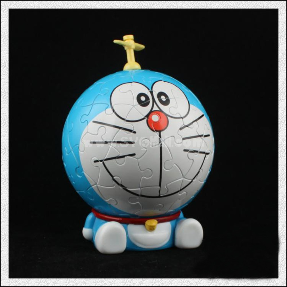 Doraemon Cartoon DIY 3D Jigsaw Puzzle Figure Toy 60 Pieces