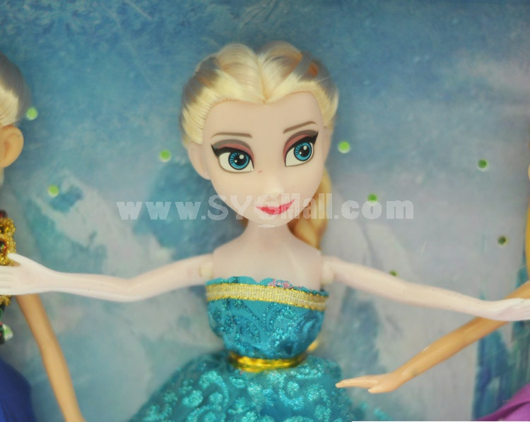 Frozen Princess Figure Toys Figure Dolls 23cm/9inch 4pcs/Lot