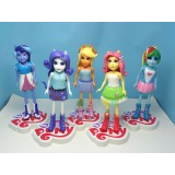 """wholesale - My Little Pony Equestria Girls Figures Toys with Stand 5pcs/Kit 13cm/5"""""""