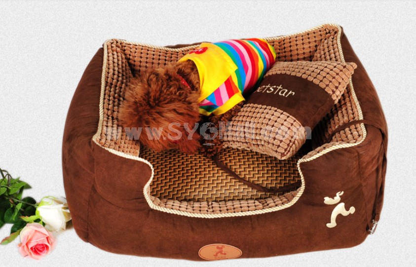 Cute Dog Bed Midium Size Soft Breathable Machine Washable 75cm/29inch
