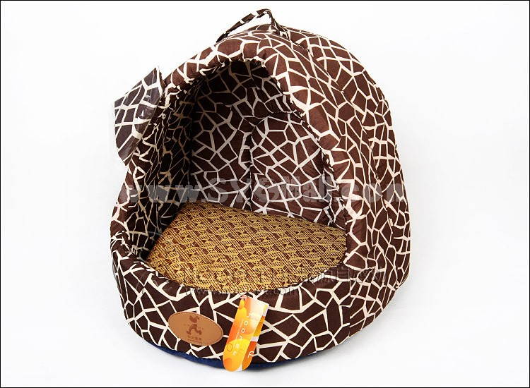 Dog Bed Yurt Shape Soft and Machine Washable Small Size 33cm/13inch