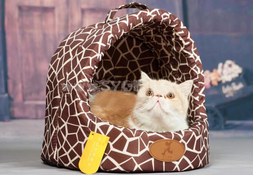 Dog Bed Yurt Shape Soft and Machine Washable Medium Size 40cm/16inch