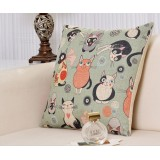 Wholesale - Decorative Printed Morden Stylish Throw Pillow Cover Cushion Cover No Pillow Inner -- Cartoon Cats