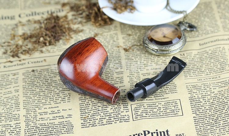 Sandalwood Pipe Handmade Wooden Pipe with Smoker's Companions Mouthpieces