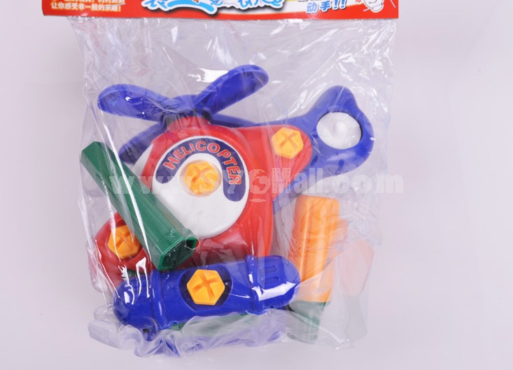Assembly Toy Helicopter Block Toys Educational Toy