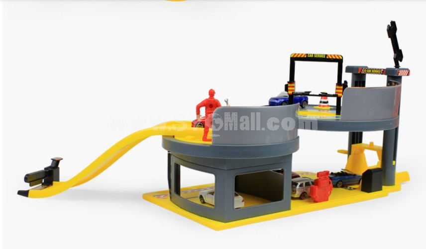 Assembly Toy Car Service Garage Block Toys Educational Toy