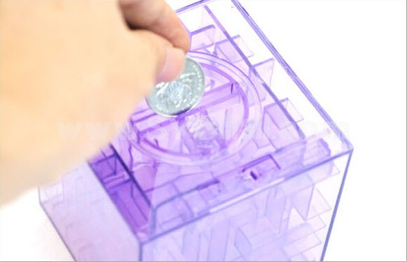 Crystal Maze Money Box Piggy Bank Storge Box