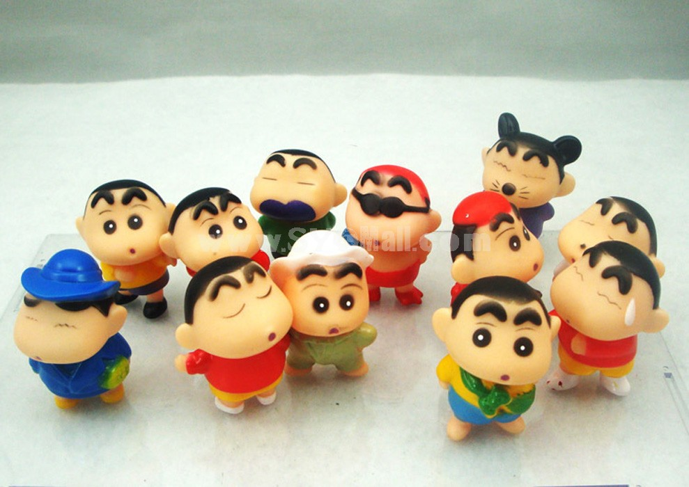 Crayon Shin-chan Figures Toys Vinyl Toys with Gift Box 12pcs/Lot 5cm/2.0inch Height