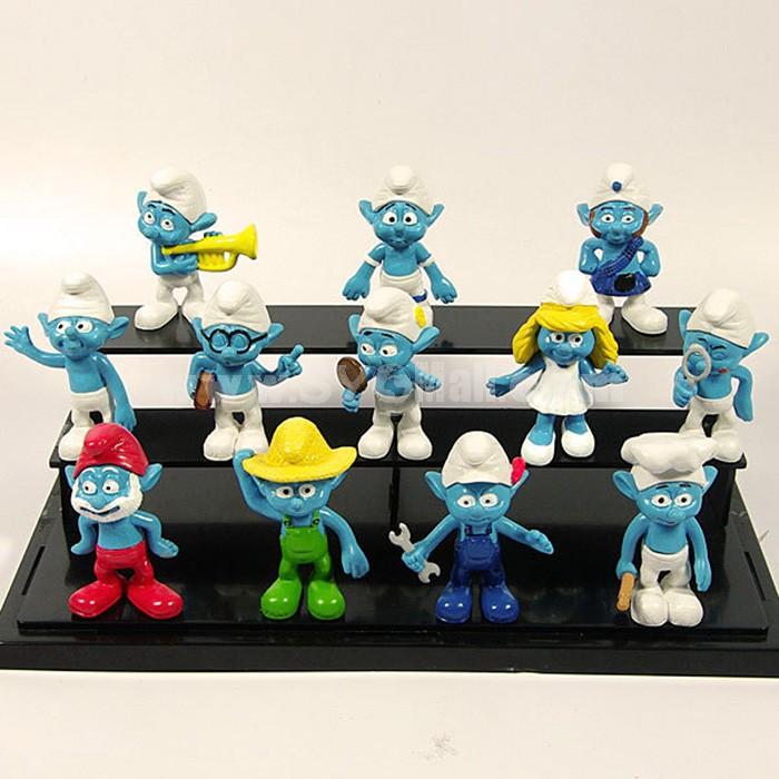 The Smurfs Figures Toys 12pcs/Lot 6cm/2.4inch