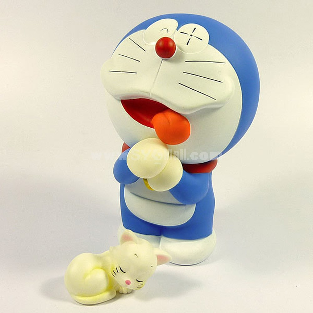Doraemon Figure Toy Vinyl Toy with Cute Cat 15cm/5.9inch