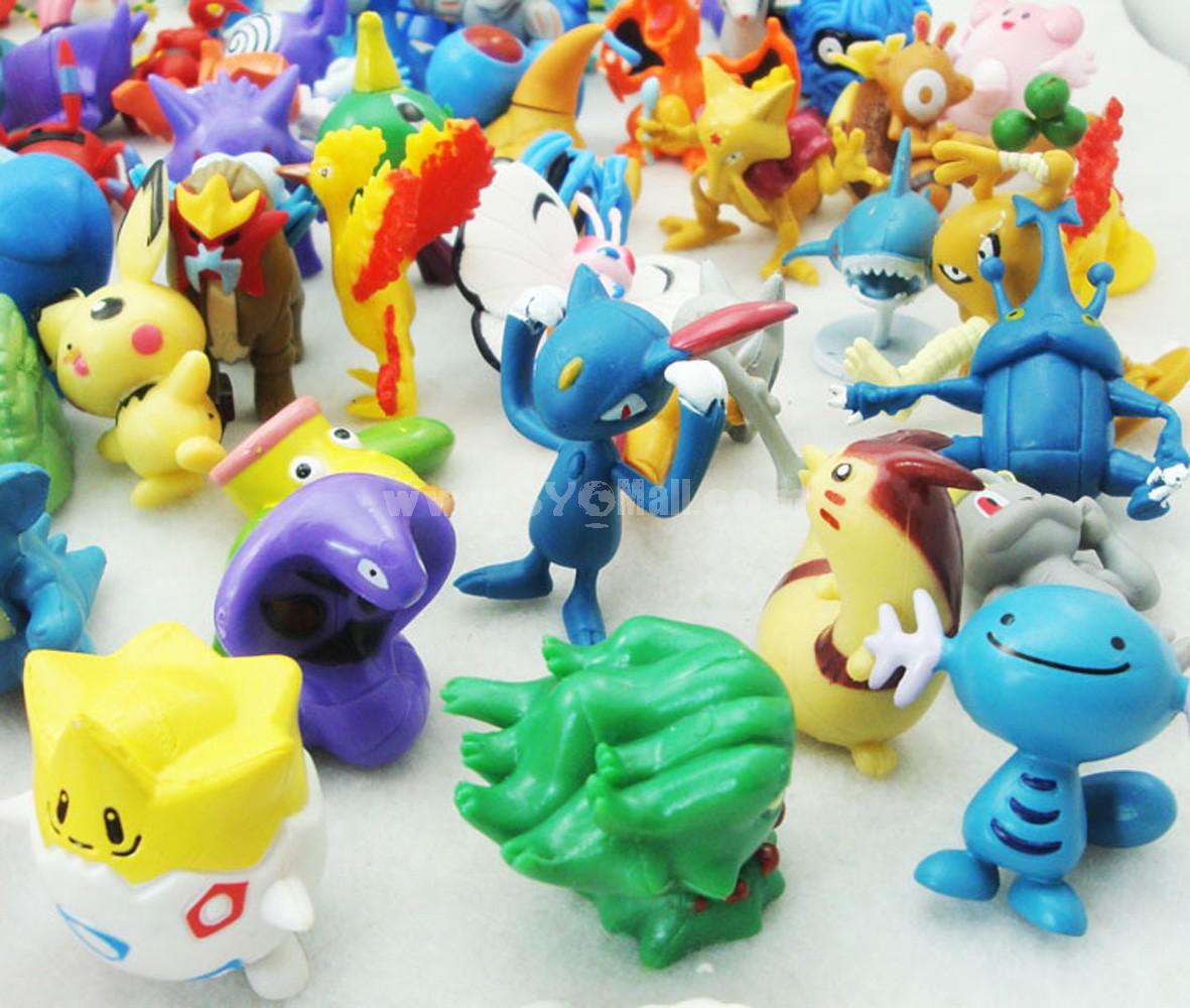 Pokémon Pikachu Figures Toys 90pcs/Lot 2.0inch