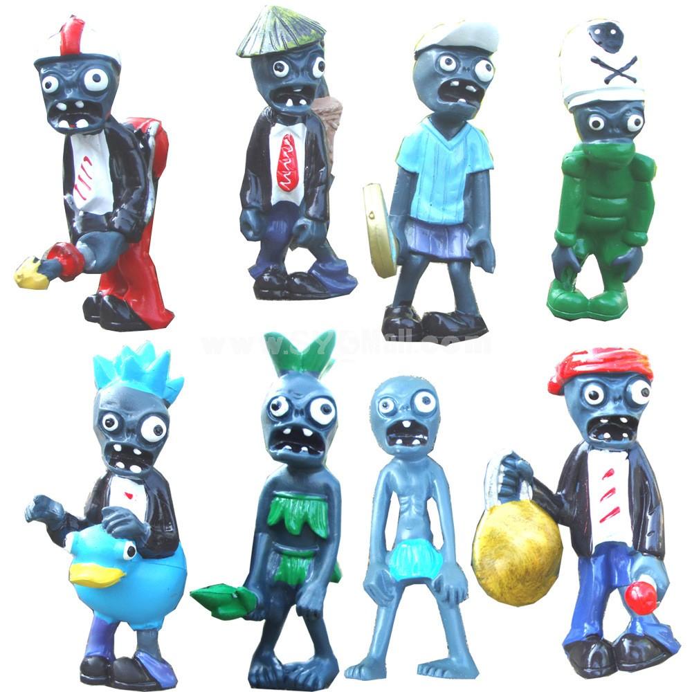 Plants vs Zombies PVZ Figures Toys 3rd Generation 8pcs/Lot 1.5-3inch
