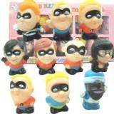 wholesale - The Incredibles Figures Toys Vinyl Toys 10pcs/Lot 2.0inch