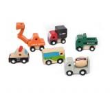 Wholesale - Wood Block Cars Car Models 6pcs/Lot